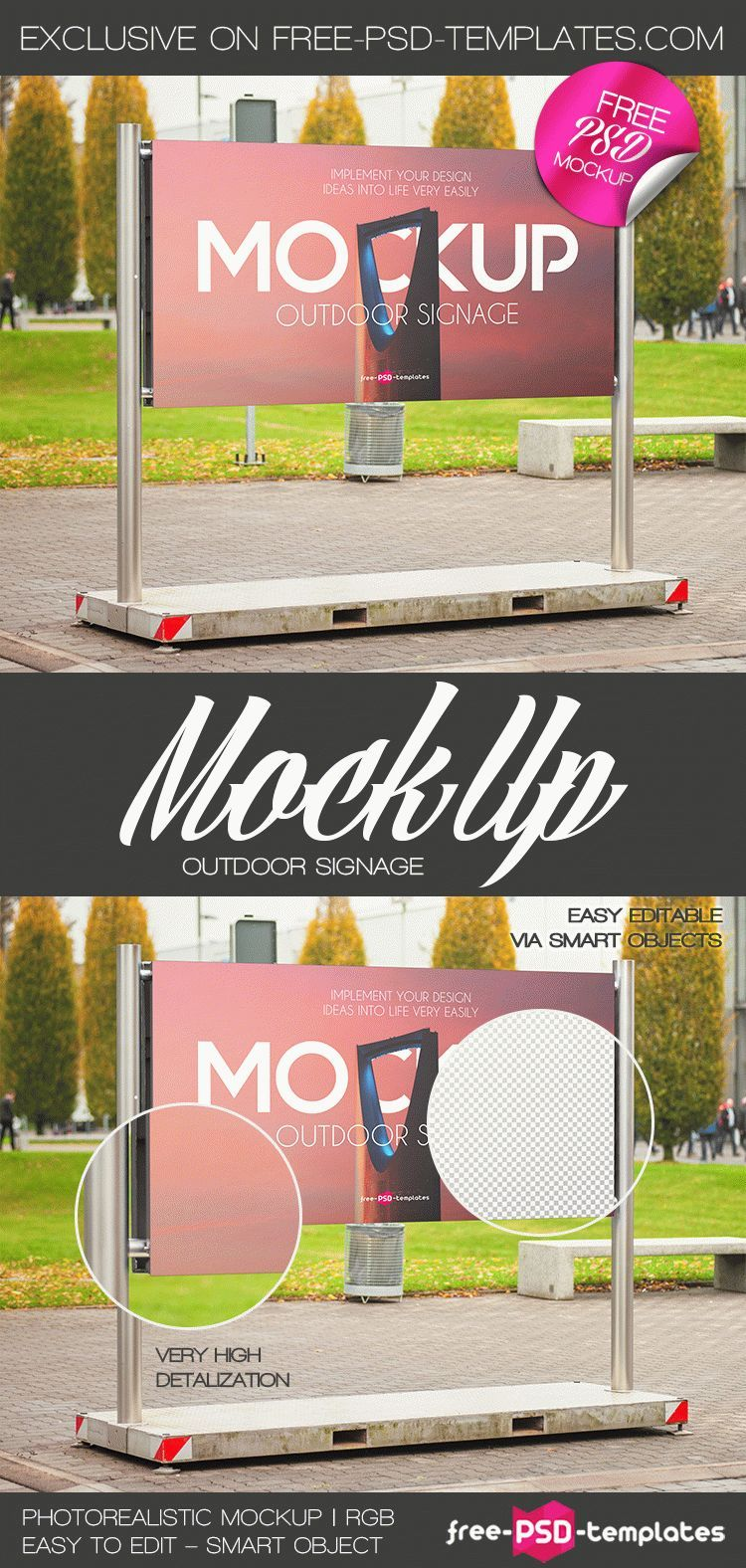 Download Signage Mockup Psd Free Download Yellowimages