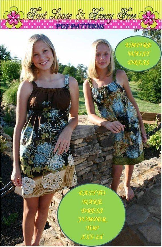 Empire Dress, Sundress, Jumper or Top -Easy Teen Dress - SEW COOL ...