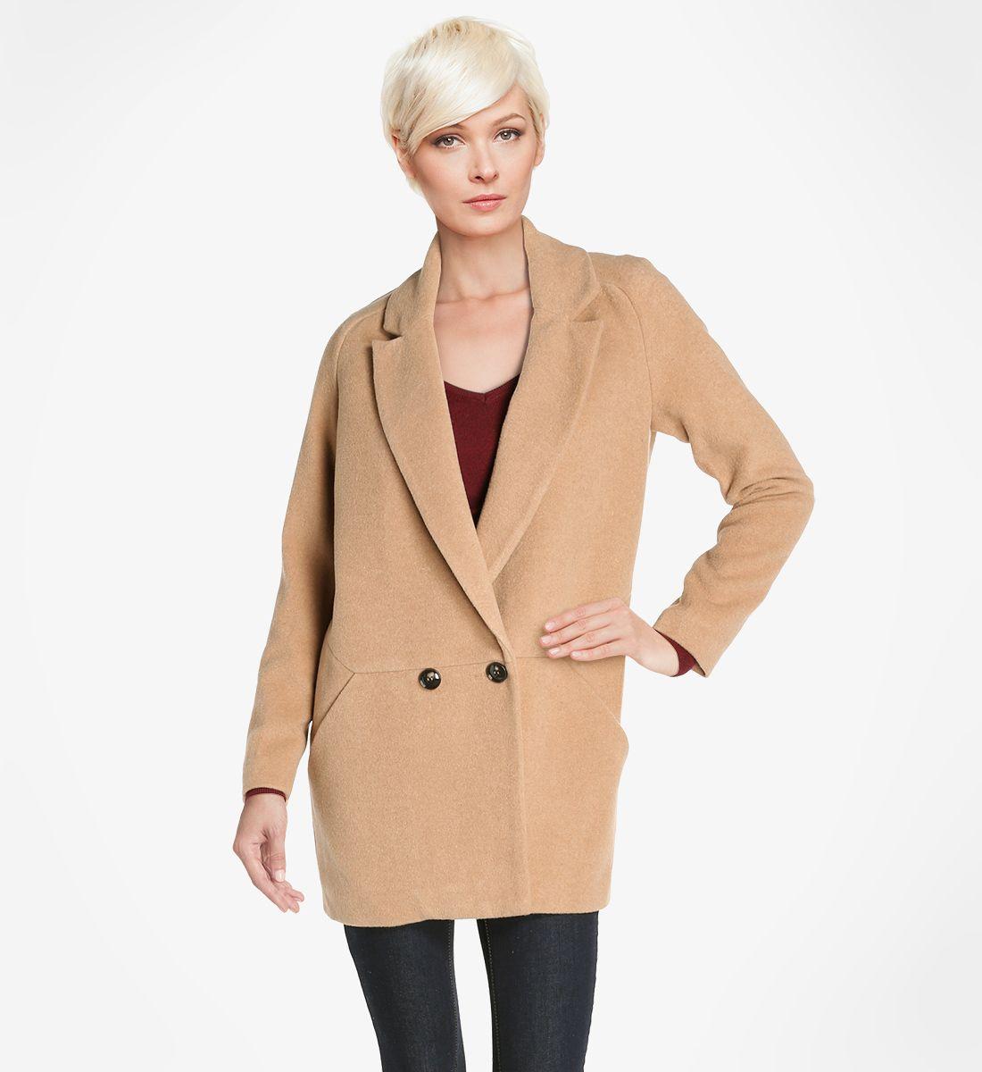 Manteau masculin See U Soon en camel pour femme - Galeries Lafayette 130