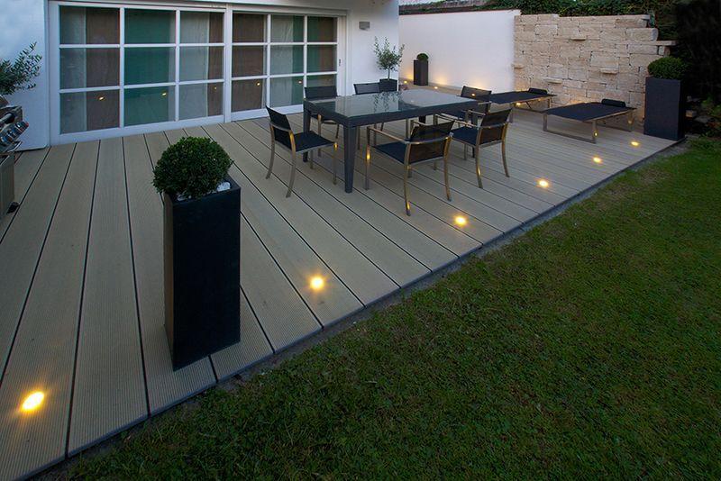 wpc grau garden ideas in 2019 garten terrasse fliesen. Black Bedroom Furniture Sets. Home Design Ideas
