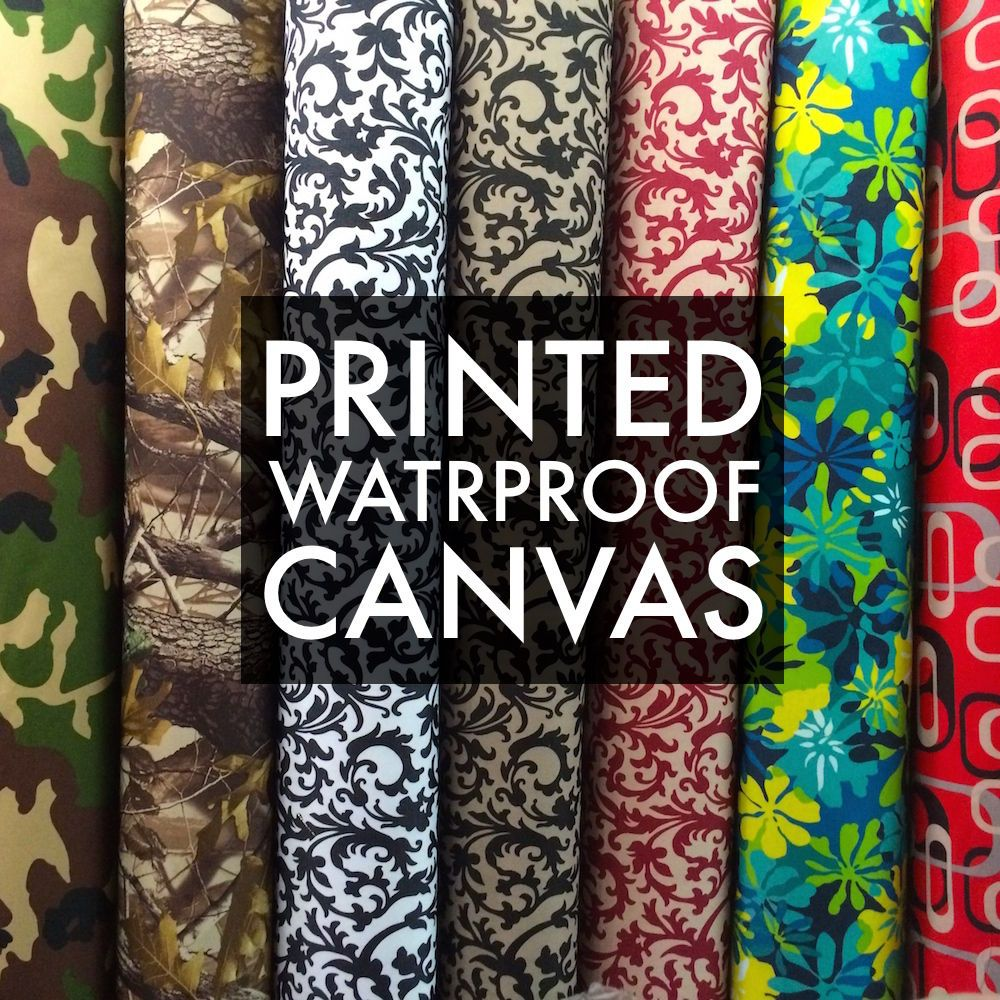 Printed Canvas Fabric Waterproof Outdoor 60 Wide 600 Denier By The Yard Ebay Diy Outdoor Cushions Canvas Fabric Patio Furniture Cushions