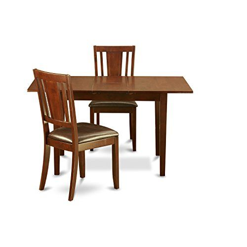 East West Furniture Nodu3mahlc 3piece Kitchen Nook Dining Table Set You Can Find Out More Details At The Dining Room Bar East West Furniture Dinette Tables