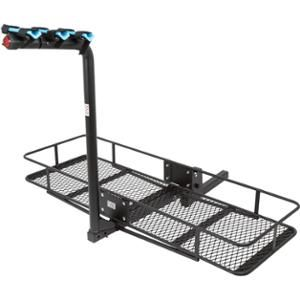 "Trailer Hitch Luggage Rack 3Bicycle 60"" Folding Cargo Carrier Basket Rack Combo For 2"" Hitches"