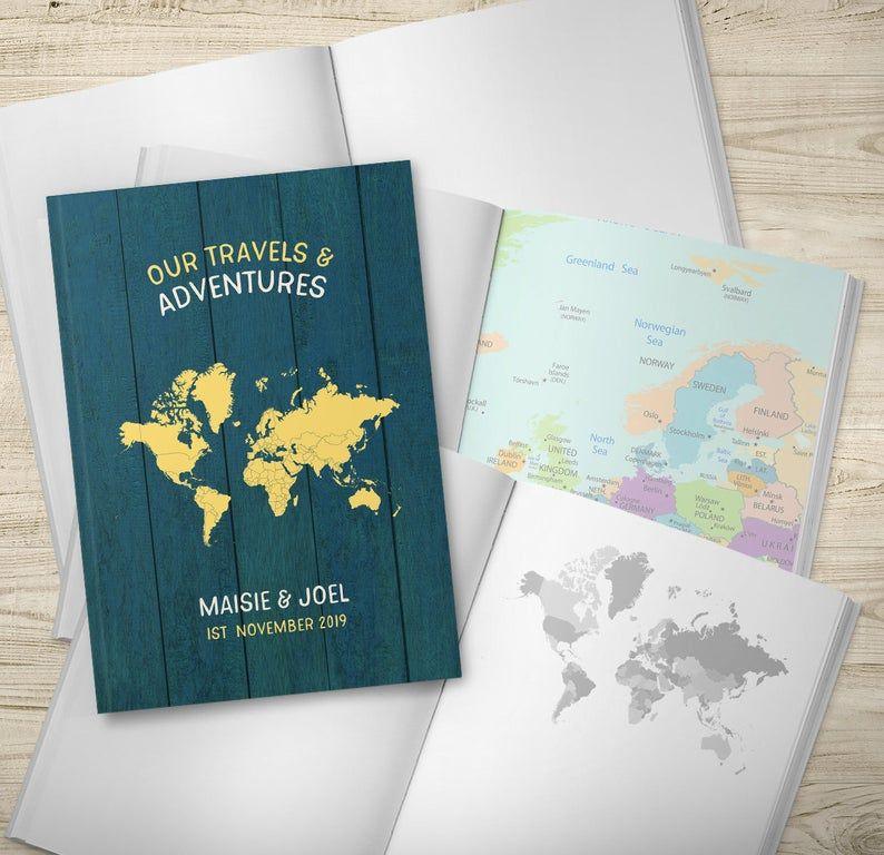 Travel Journal Notebook, Wedding Gift, Anniversary Gift
