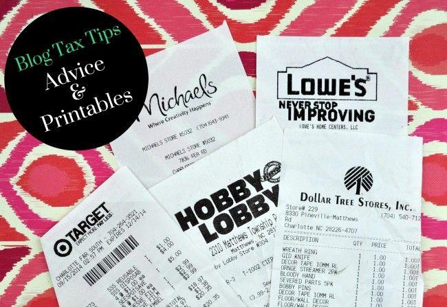 Blogging Tax Tips & Printables madeinaday.com