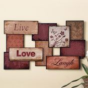 Home Decor and Decorations | Home Accessories | Collections Etc. Live, Love, Laugh Inspirational Metal Wall Art