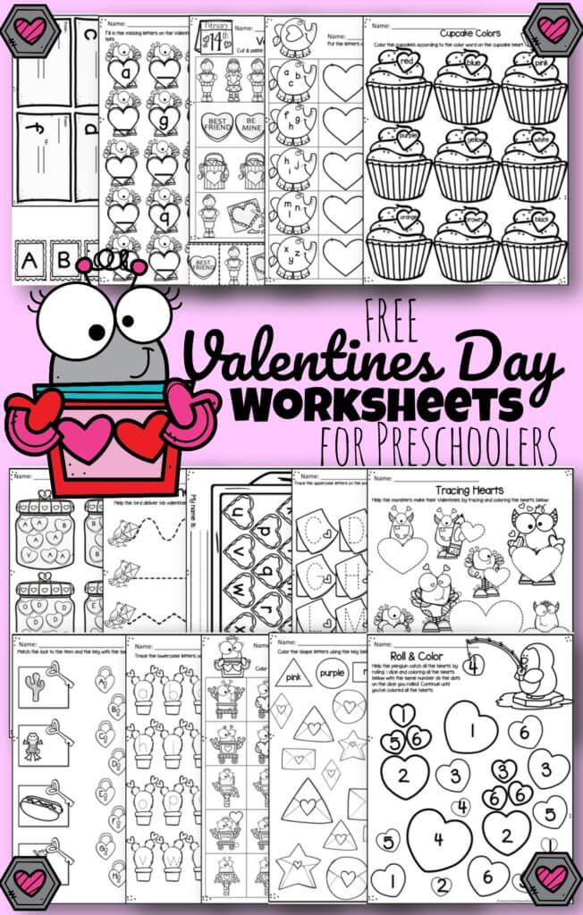 FREE Valentines Day Worksheets   these super cute free ...