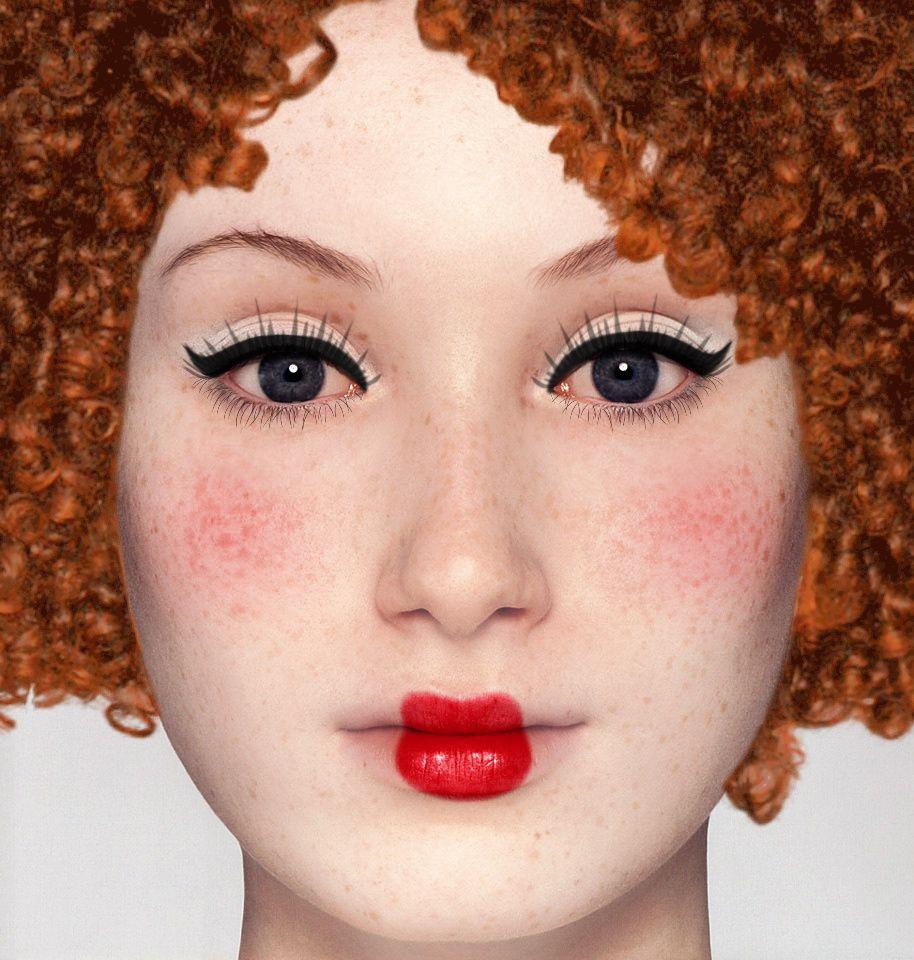 raggedy ann makeup Raggedy Ann Face Makeup Halloween