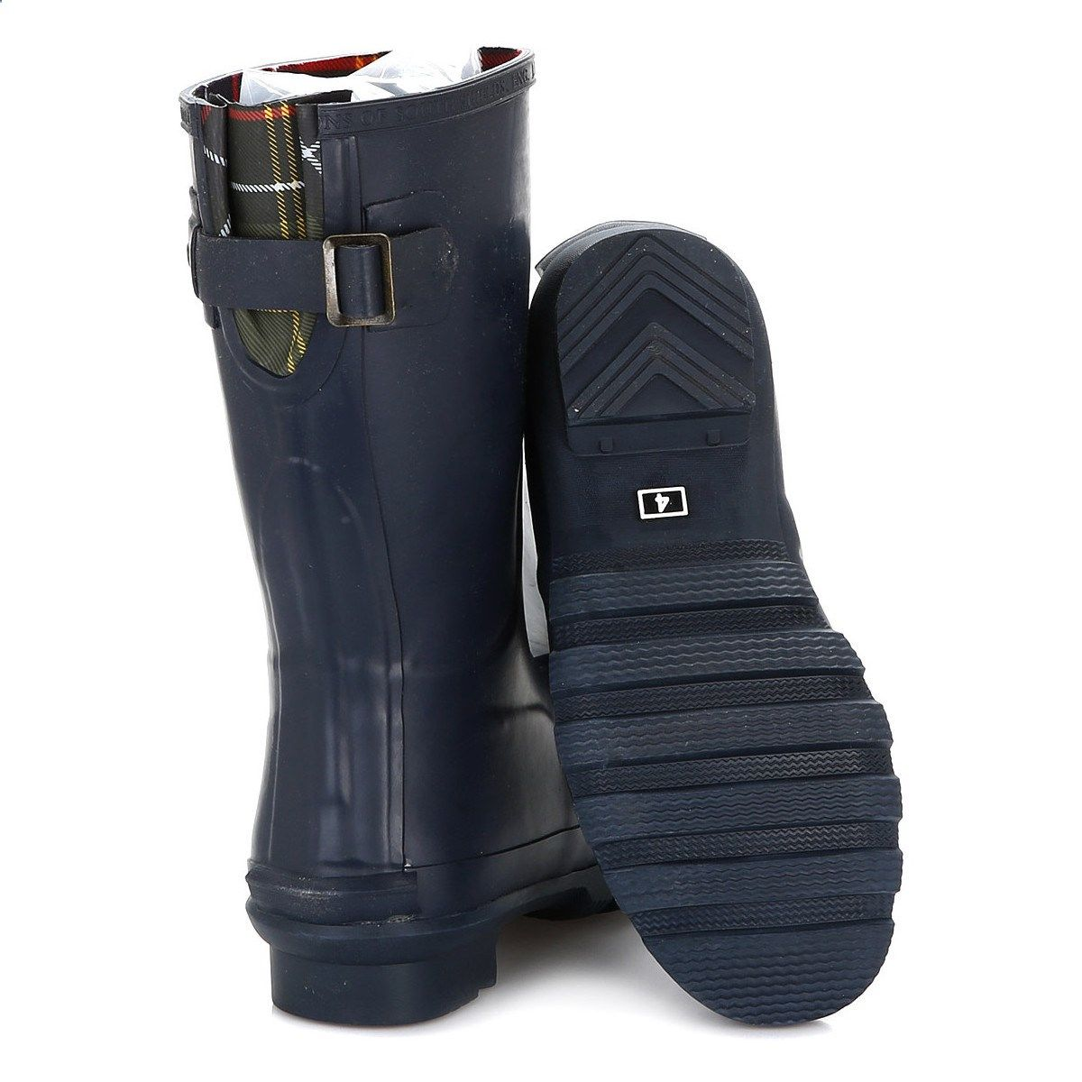 88b8c09c4 Barbour Womens Navy Short Jarrow Wellington Boots Blue | fashion ...