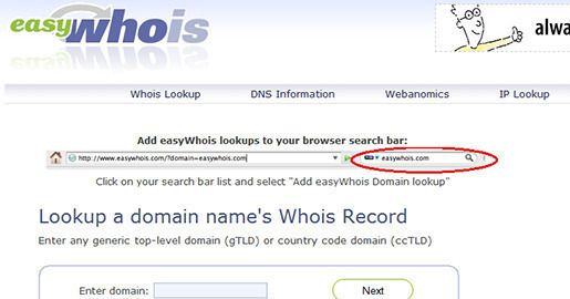 p>easily lookup domain name whois records and DNS