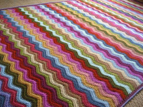 Cottage Ripple Blanket Ta Dah Crochet Ripple Blanket Crochet For Beginners Blanket Crochet Ripple