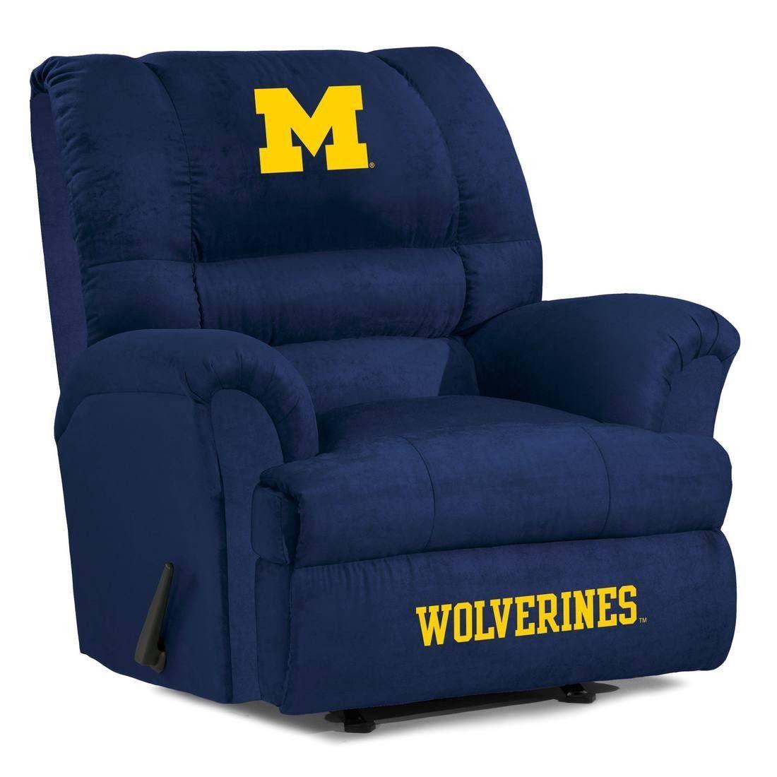 Big Daddy Microfiber Recliner - University of Michigan Wolverines