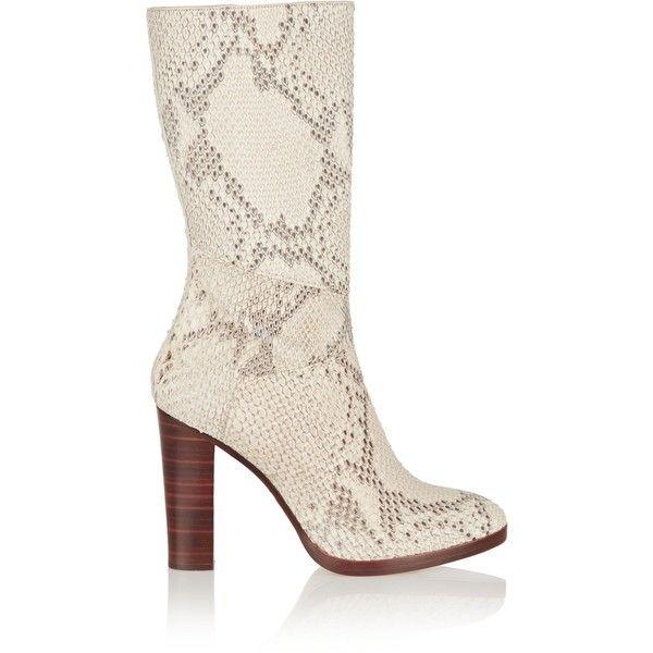 CHLOÉ Python boots ($900) ❤ liked on Polyvore featuring shoes, boots, chloe