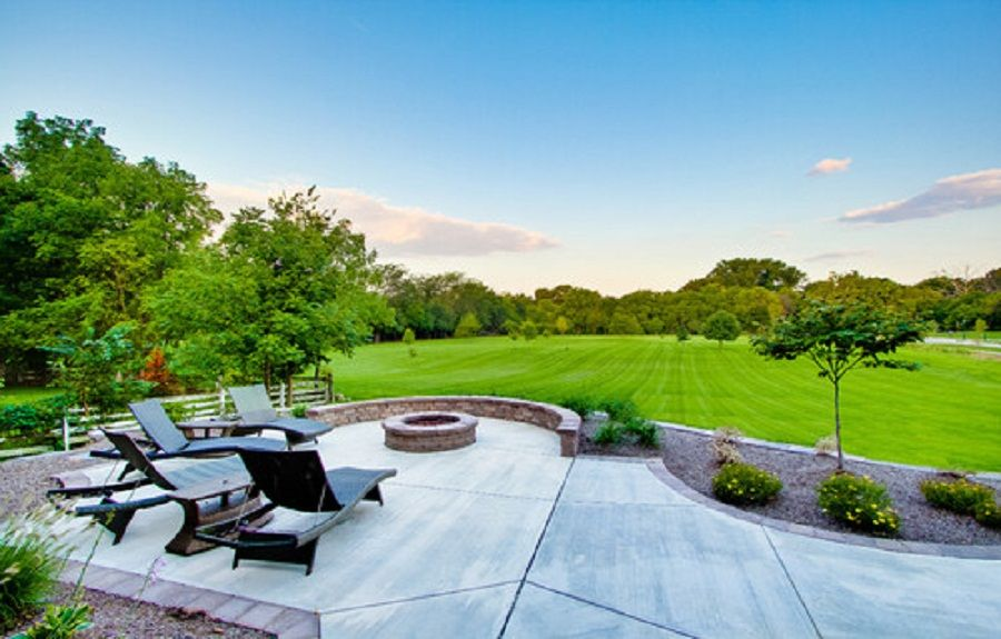 Concrete Patio Design Ideas backyard concrete designs backyard concrete designs backyard concrete ideas Concrete Patio Designs With Fire Pit Httplanewstalkcomvarious