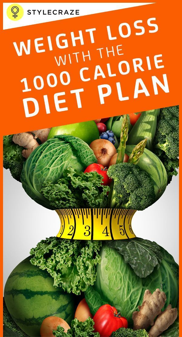 The 1000 Calorie Diet Is A Form Of Eating Routine That
