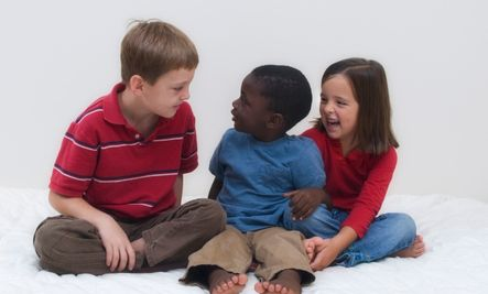 Caucasian friend of mine, while watching his children play on the playground with a collection of children representing a plentitude of racial background says to an African American woman there with her young daughter,