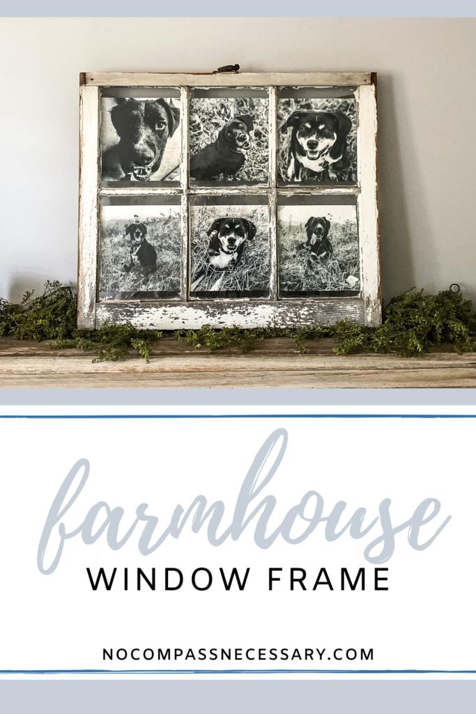 Repurposed Farm Window Window Crafts Old Window Frames Window Frame Picture