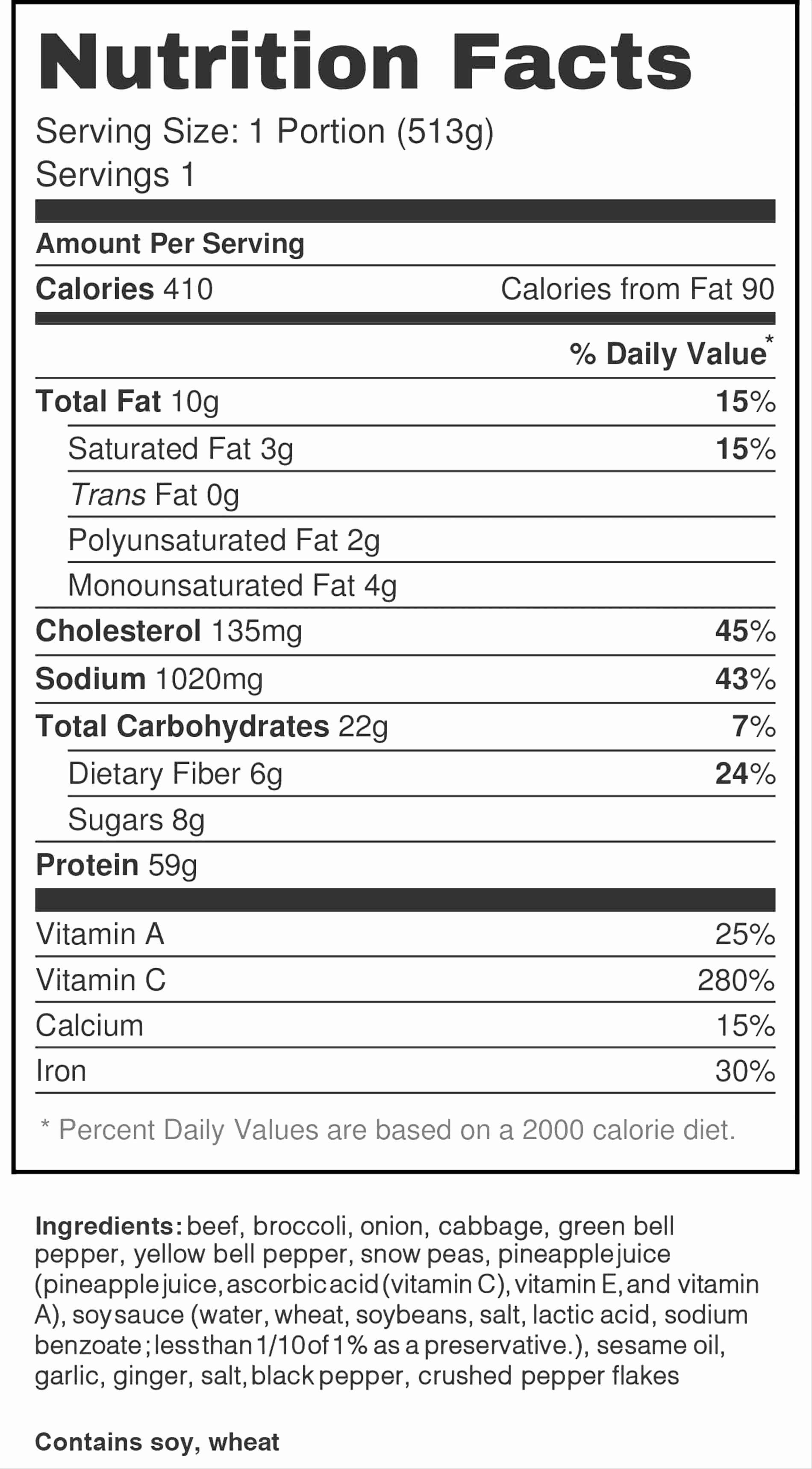 Blank Nutrition Label Template Luxury Blank Nutrition