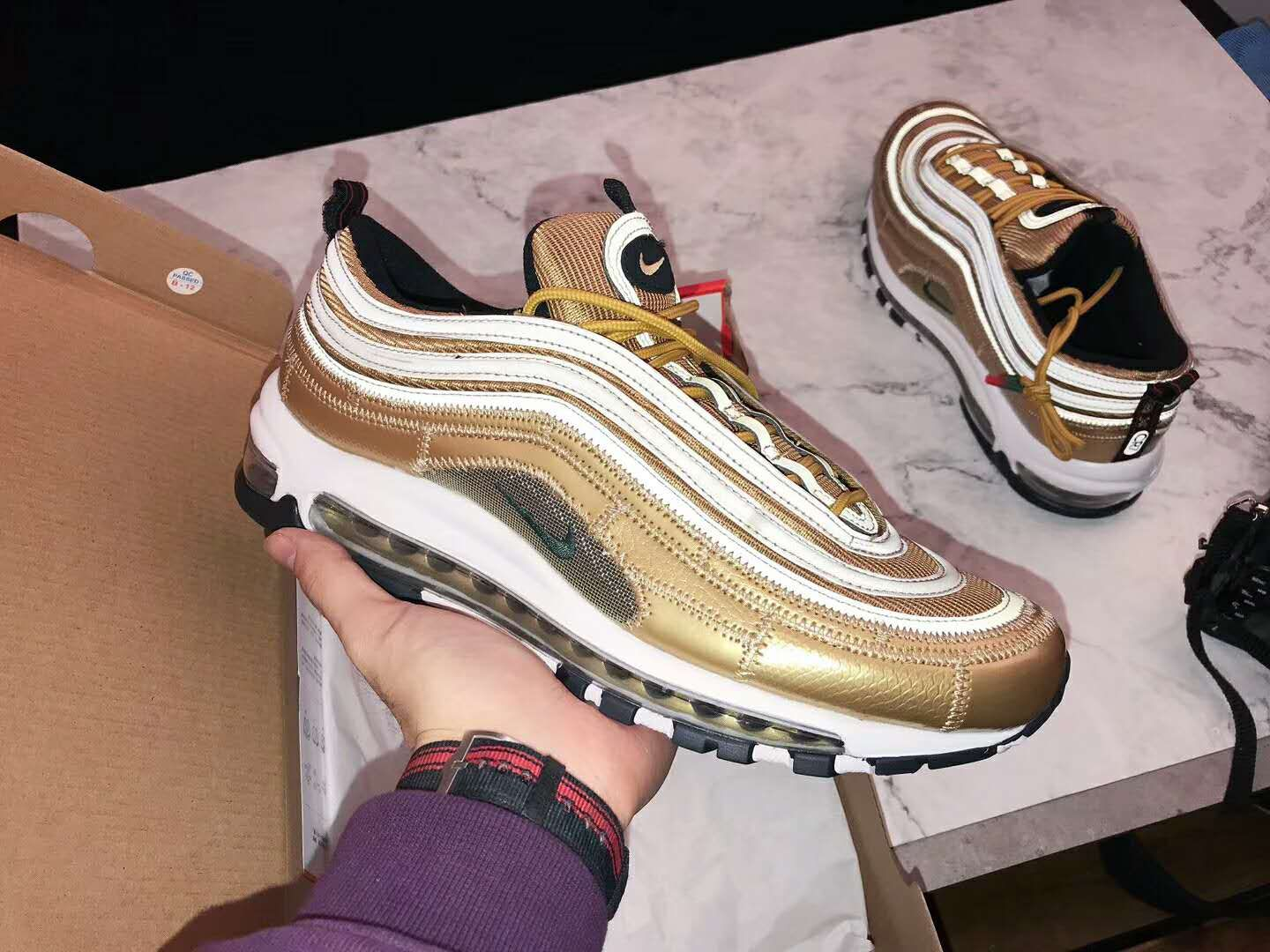 Nike Air Max 97 CR7 Cristiano Ronaldo Gold Patchwork AQ0655