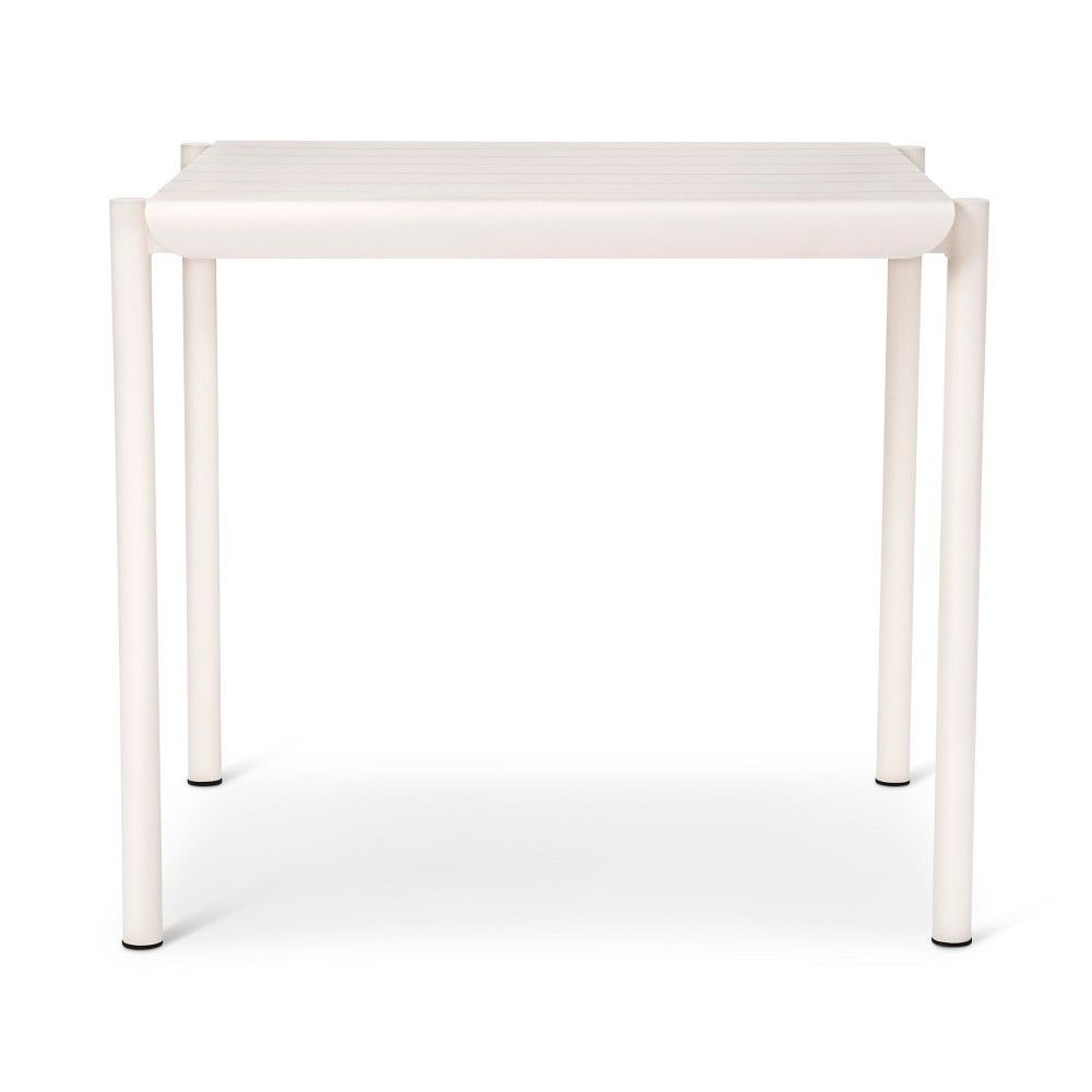Slat Square Metal Outdoor Table White Too By Blu Dot Metal Outdoor Table Outdoor Tables Table