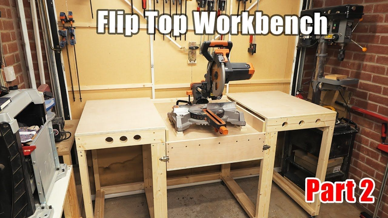 Workbench With A Flip Top Mitre Saw Station All In One Solution Workb Mitre Saw Station Workbench Flip Top Table