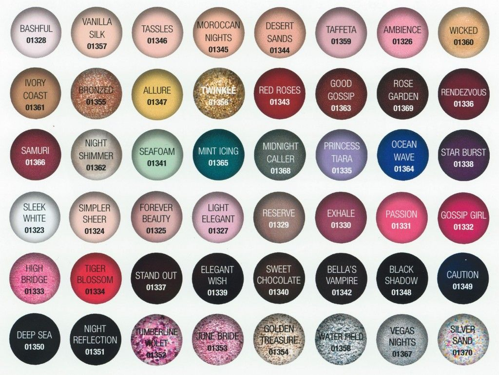 Gelish Nail Color Chart I Must Print For My Display