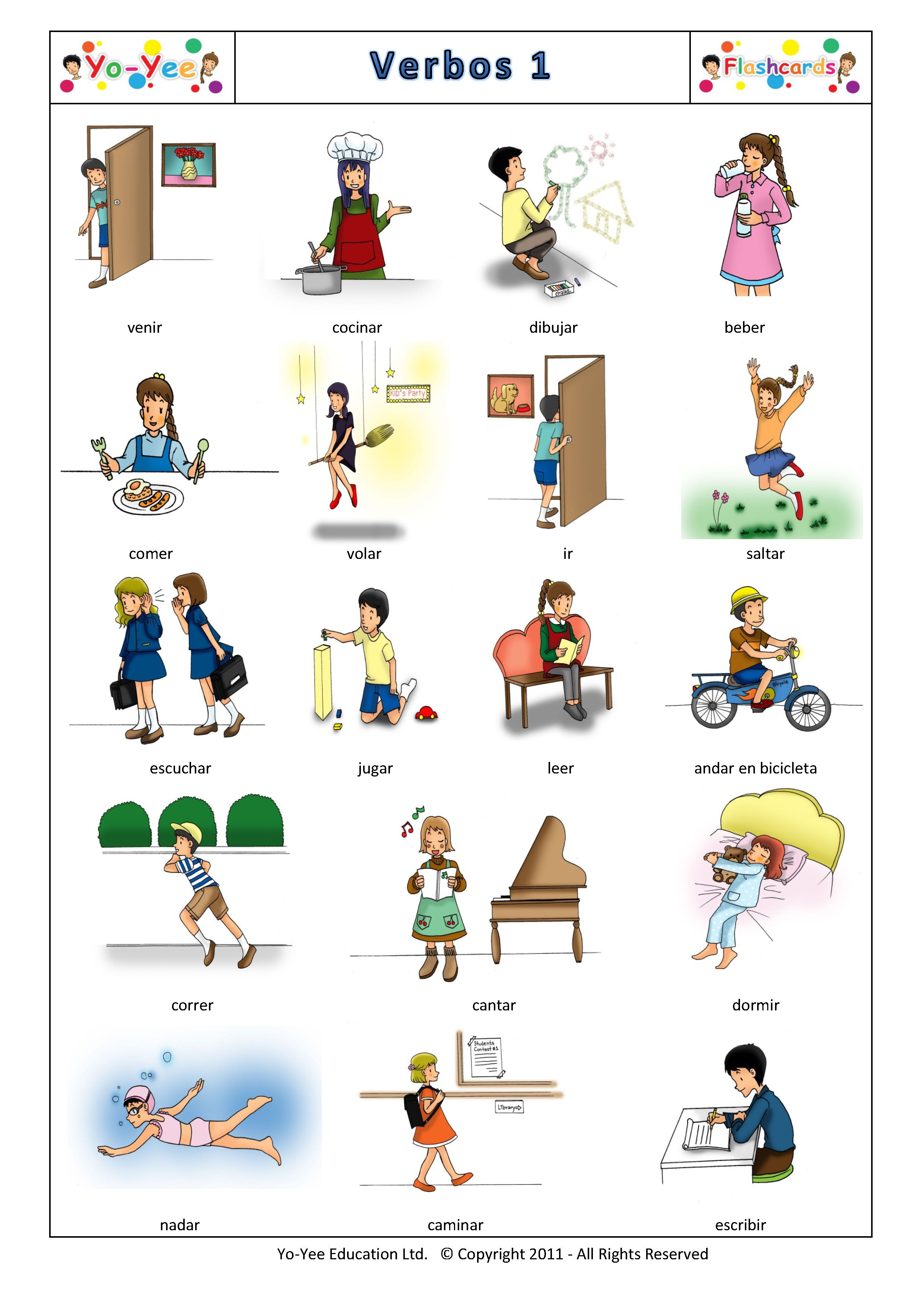 Yo Yee Verbos 1 Flashcards Find High Quality Flashcards At Www Yo Yee Com In Multiple Language Vocabulaire Espagnol Espagnol Apprendre Enseigner L Espagnol
