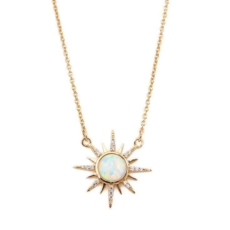 Photo of Gemstone Starburst Necklace – Opal – Elizabeth Stone Jewelry – # Gemstone ……