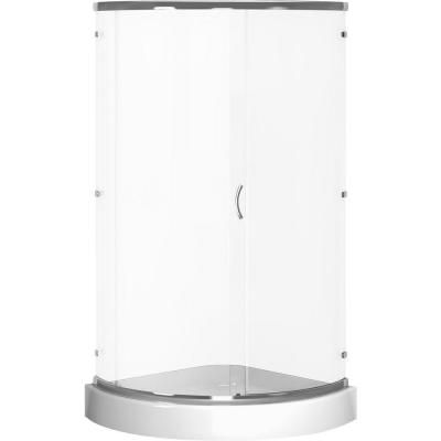 Cerise 39 In X 44 In X 78 In Shower Enclosure In Chrome With Clear Glass And Base In White 422 Frameless Shower Enclosures Shower Enclosure Frameless Shower