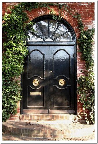 Desire To Decorate The Red Brick House Painted Front Doors Front Door Design Black Front Doors