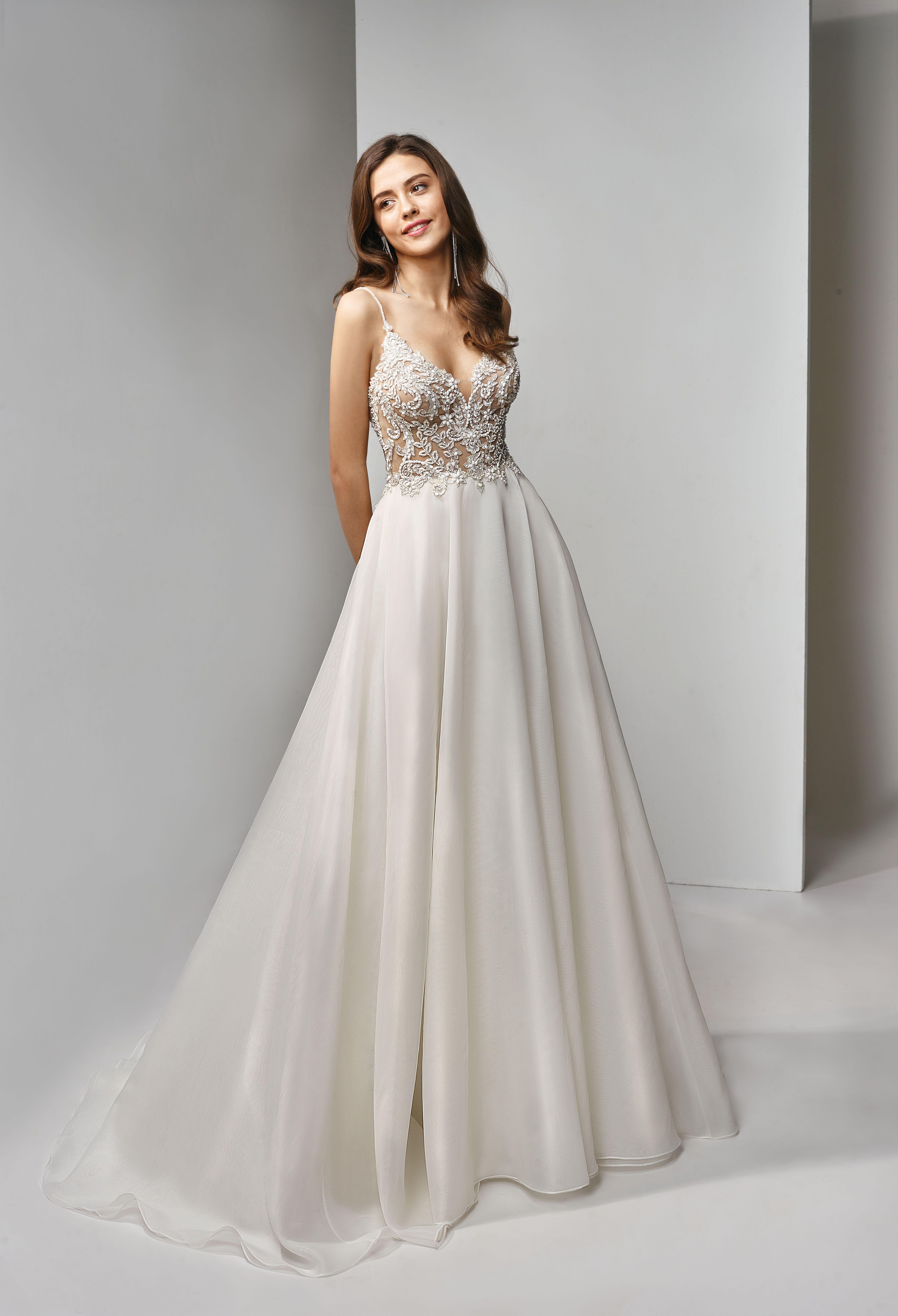 Bt191 a fulllength aline gown with an