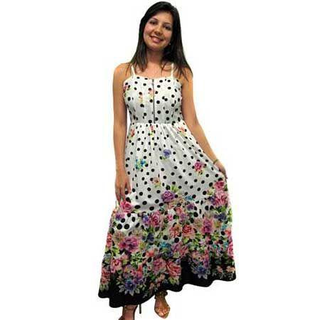 Modelos de vestidos simples estampados