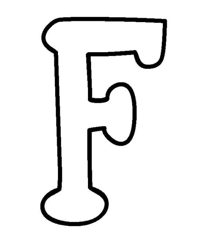 moldes letra f   Letras   Pinterest   Moldes de letras, Letras y De ...