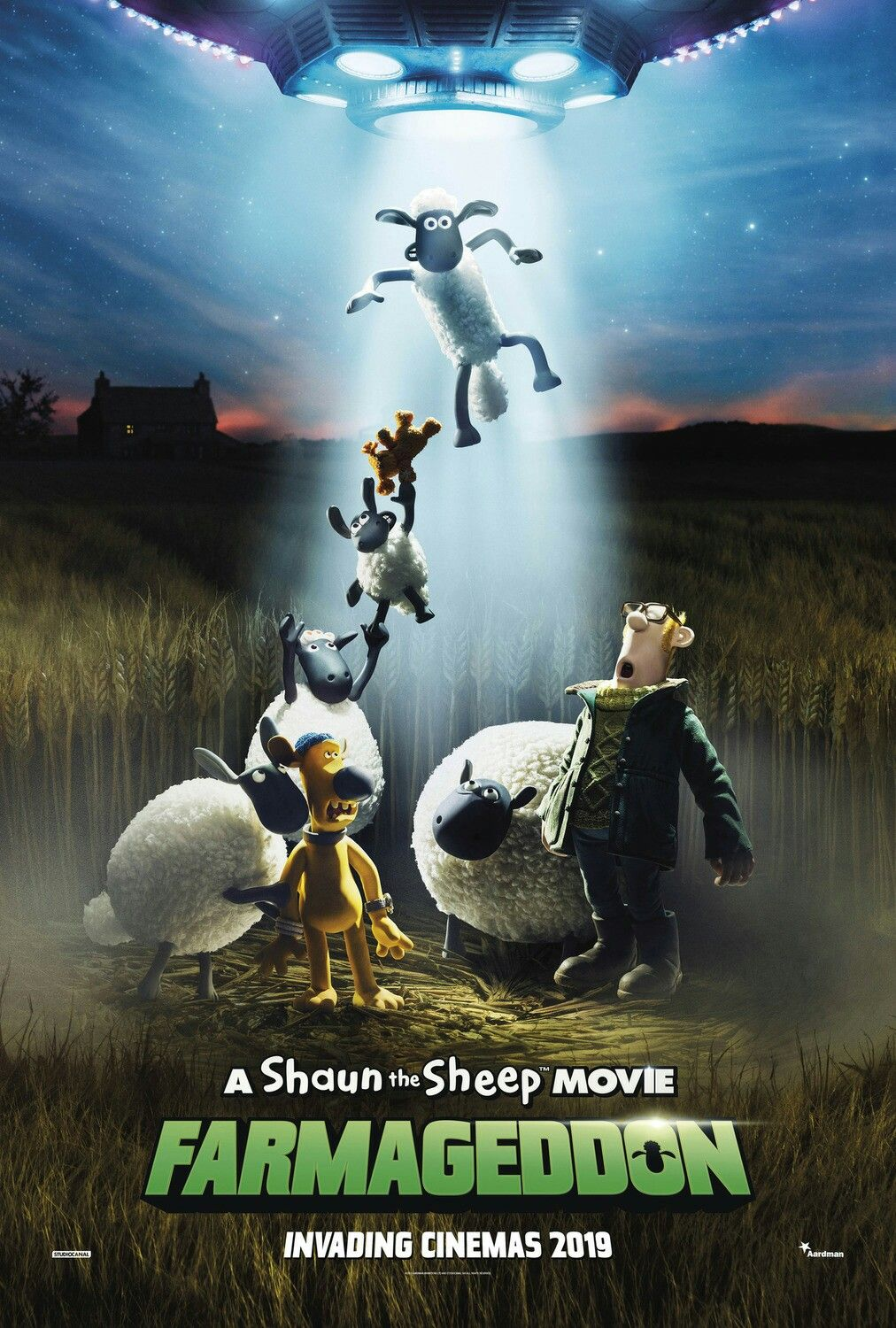 The Poster For The Animation Shaun The Sheep Movie Farmageddon