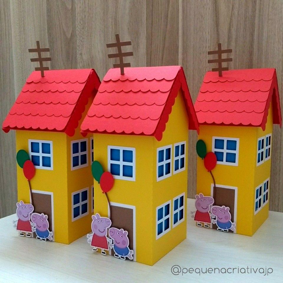 Caixa casa da peppa lembrancinhas peppa pig decora o - Casas embargadas la caixa ...