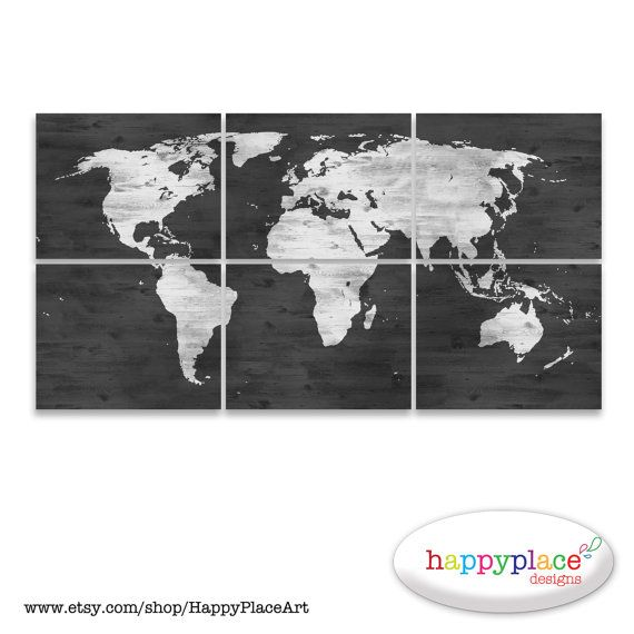 Black and white world map print with timber wood grain texture black and white world map print with timber wood grain texture office wall art in gumiabroncs Image collections