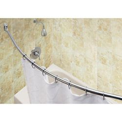 Shower Rod 5 Foot Curved Crescent Rod By Shower Solutions From