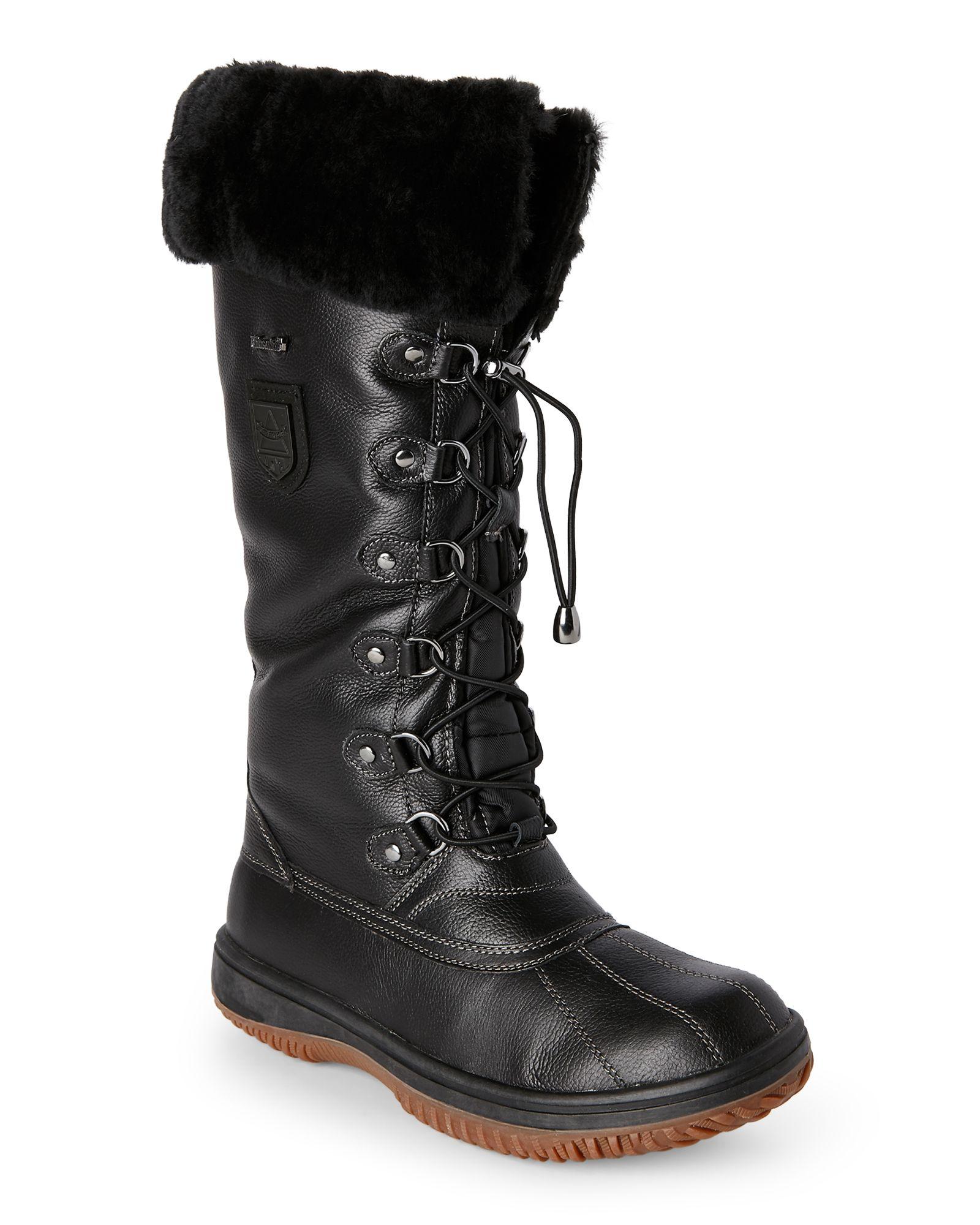 b7f056b3d00 Atelier Noir By Rudsak Black Tall Snow Boots