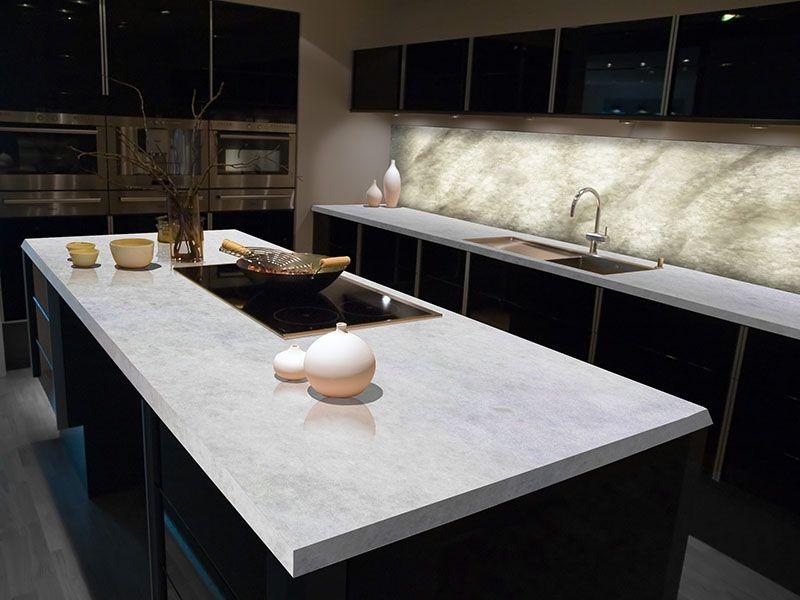 Kitchen With Ice Onyx Crystaline Stone Contemporary Kitchen Kitchen Countertops Kitchen Design