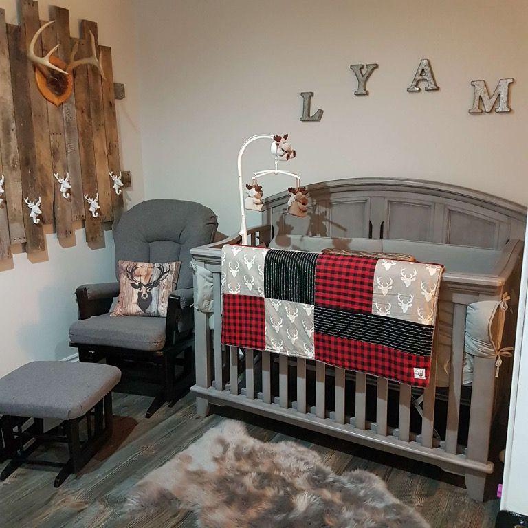 Chambre De Bebe Style Bucheron Chevreuil Cerfs Baby S Bedroom