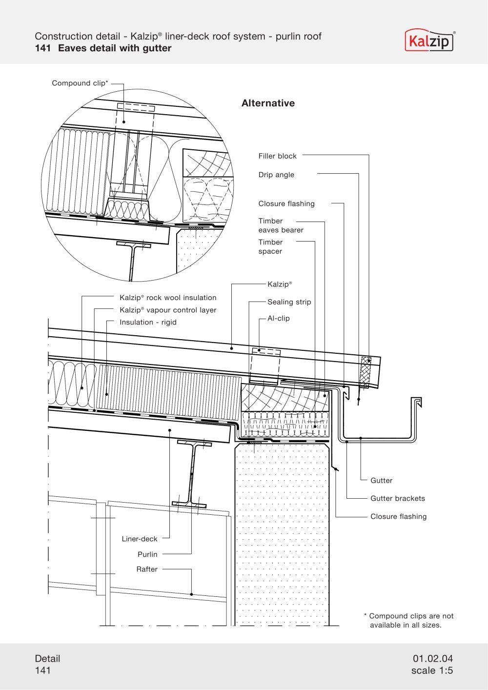 Kalzip Construction Details Archiexpo Roof Cladding Roof Detail Construction