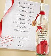 Personalized Message In A Bottle... what a cute idea!