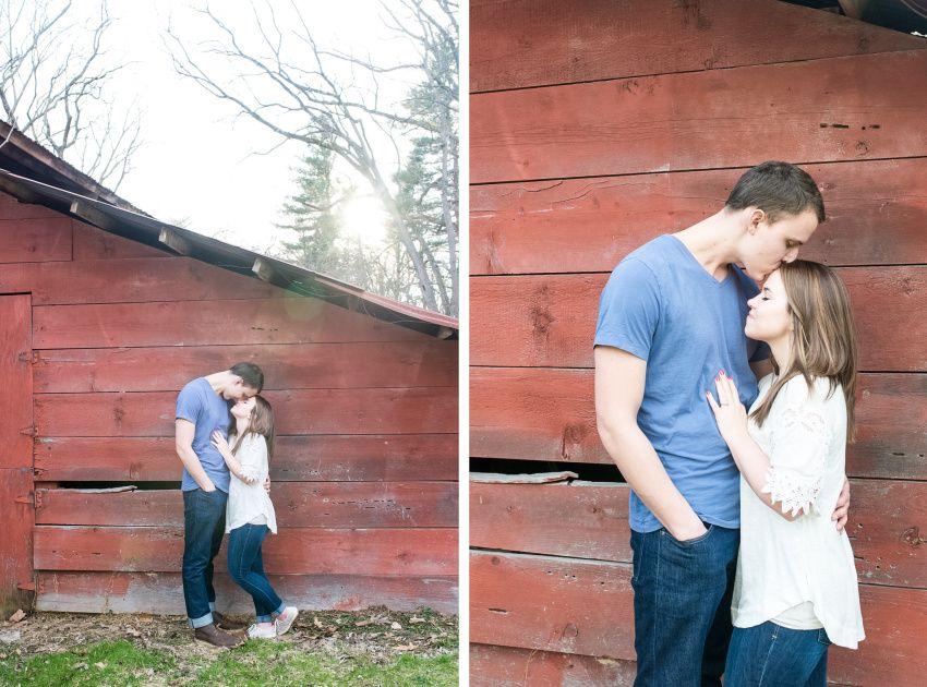 Valerie+Trevor - Red Barn - Media Pennsylvania Engagement Session - Alison Dunn Photography photo