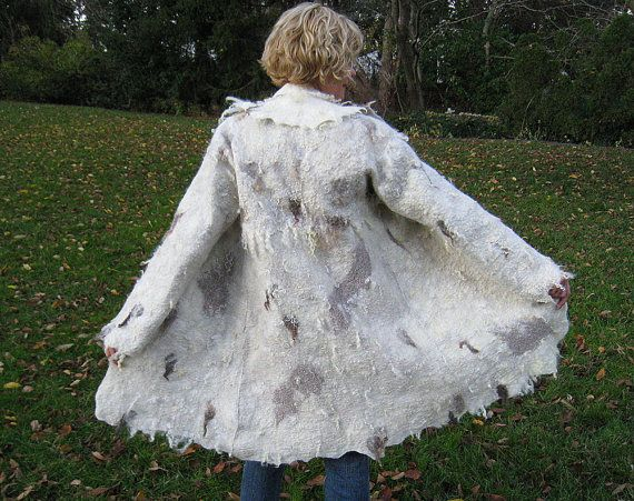 Hand felted wool coat jacket WILD WEST by ChicComplement on Etsy ...