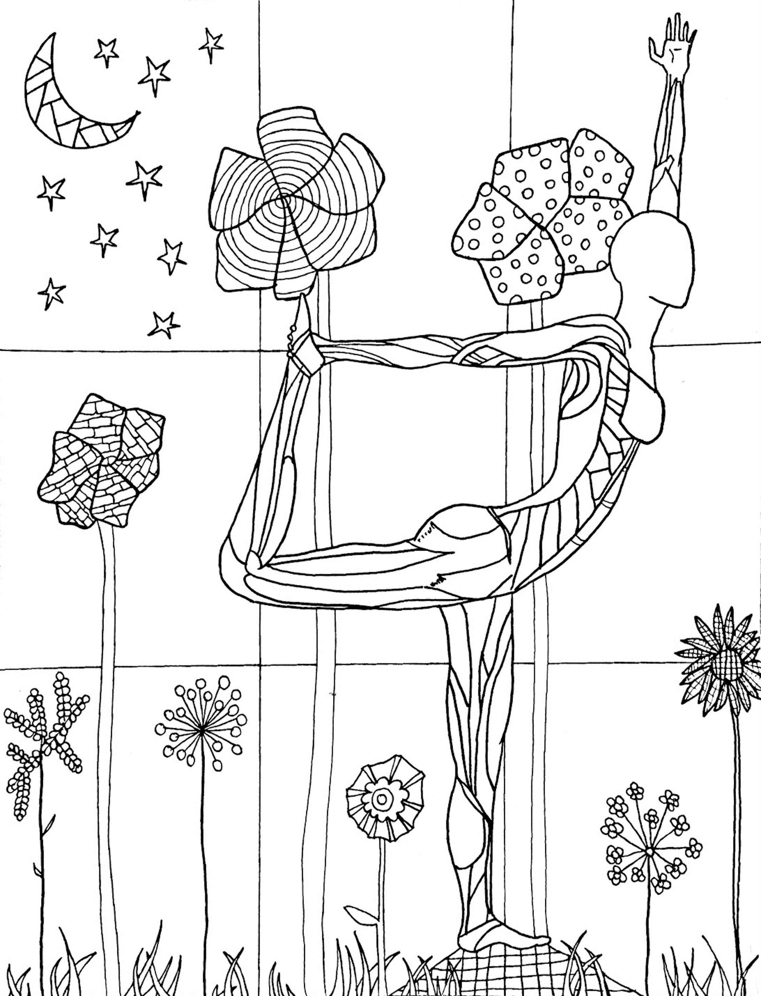 A Coloring Page From Yoga In Color A Yoga Anatomy Coloring