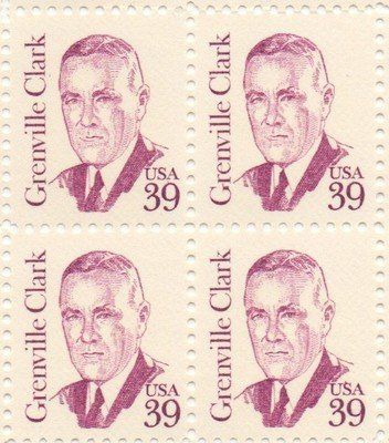 Grenville Clark Set Of 4 X 39 Cent US Postage Stamps NEW Scot 1867 1395