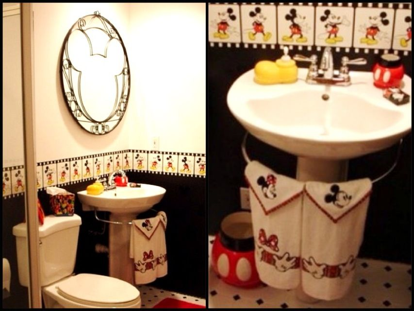 Mickey mouse bathroom set accessories everything mickey Disney bathroom ideas