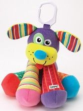 Lamaze Puppytunes.  Adorable Lamaze dog character with a different note in each of his four legs. Comes with a songbook to play merry melodies. Soft, vanilla scent is baby friendly.