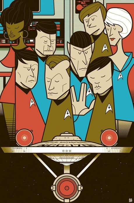 Star Trek Cast Poster Star Trek Art Star Trek Star Trek Cast