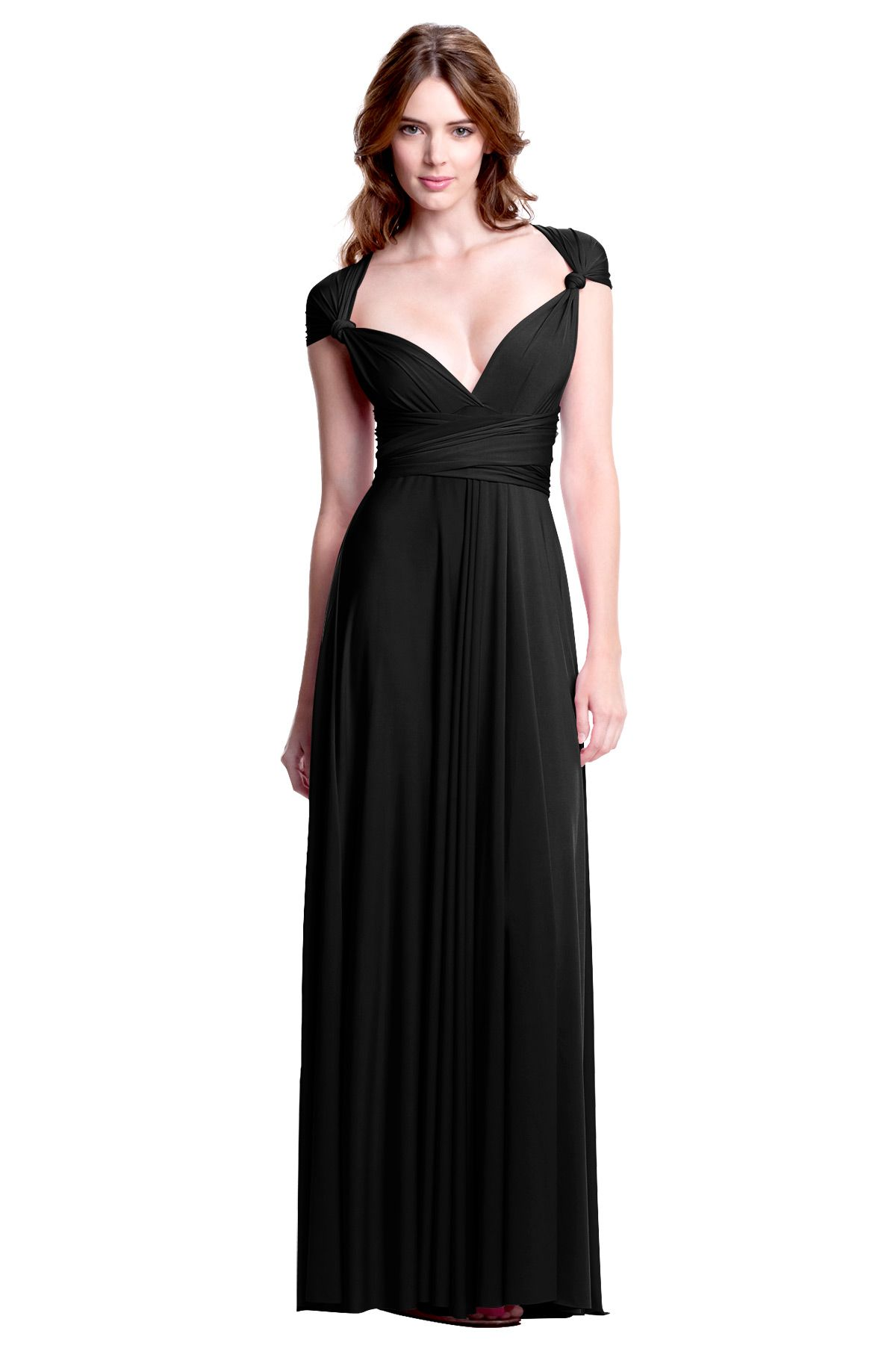 Sakura night black midi convertible dress henkaa fashion